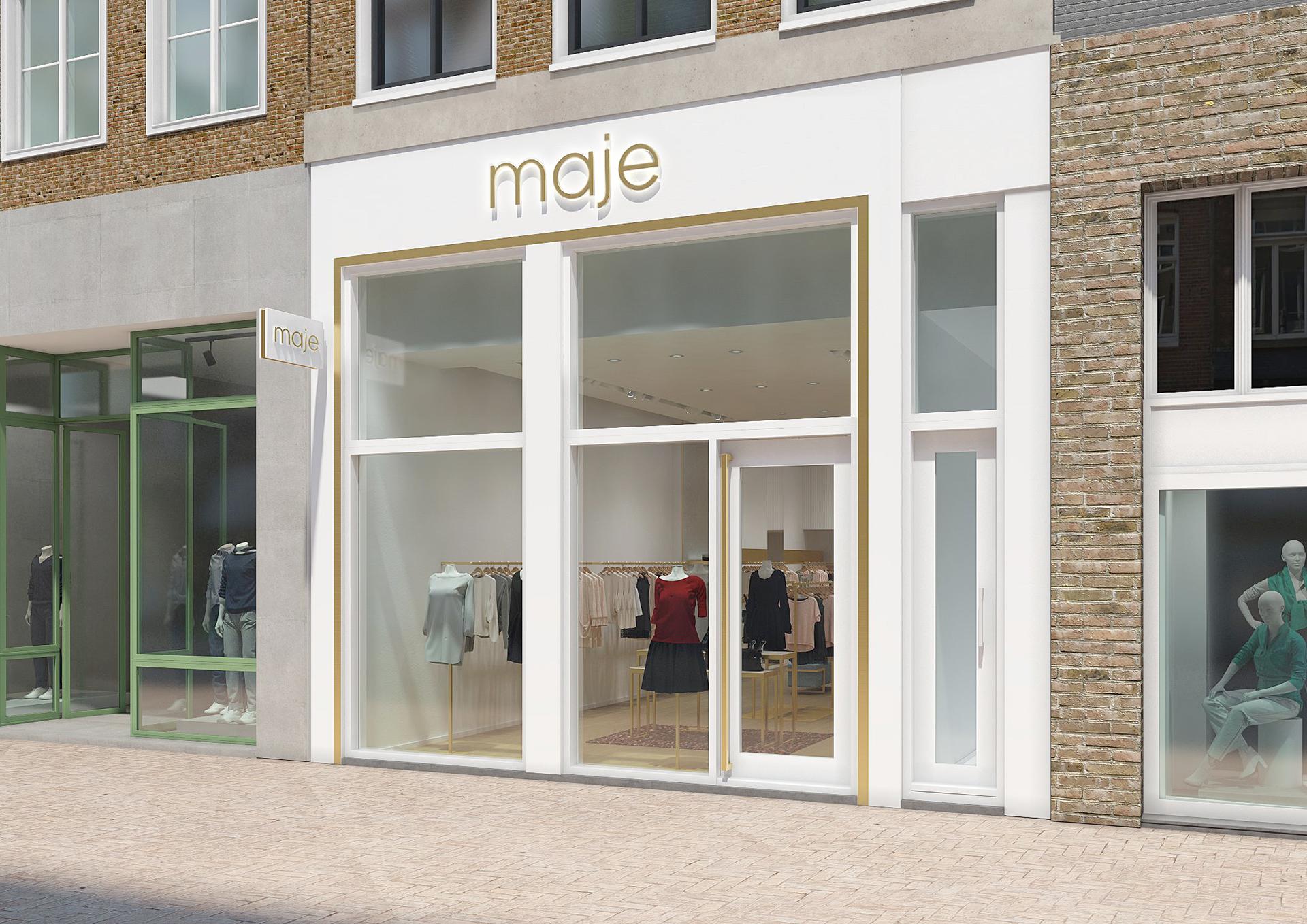 Modélisation de la facade d'une boutique de prêt à portée