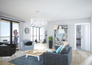 Modélisation 3D de l'intérieur d'un appartement